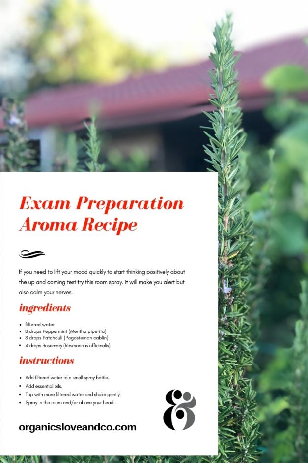 Aromatherapy Study Recipe Organics Love and Co
